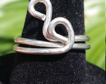 Silver Wire Wrapped Simple Ring - Size 6 1/2