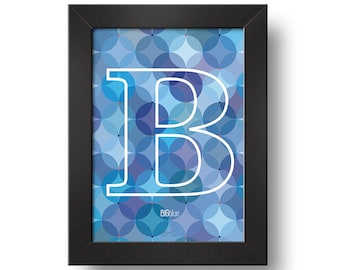 B - big BLUE | Downloadable print | Printable design | Digital print | Typography | Design art