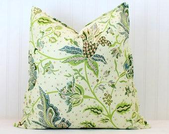 BOTH SIDES - ONE Tilton Fenwick Gibbie Aqua/Coral/Lemon Pillow Cover