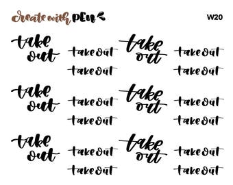 W20 | TAKE OUT | Tinta | Planner Stickers