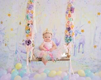 Rainbow Unicorn Baby Girl 1st Birthday Outfit | Baby Tutu | Tutu Dress | Birthday Dress | Baby Girls Cake Smash Outfits | Birthday Tutu