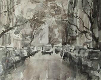 Thaw - original watercolor