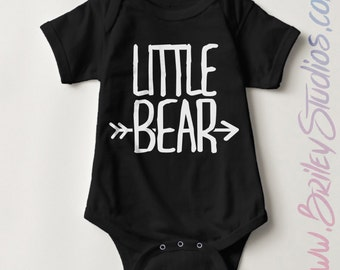 Little Bear Newborn Baby One Piece, Birth Announcement, Coming Home Outfit, Personalized Baby Shower Gift, Gender Neutral, First Birthday