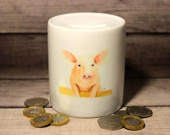 Hand Painted Pig Money Box