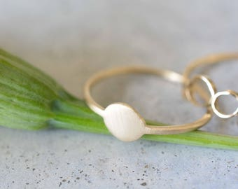 Flat gold ring, delicate gold ring, 14k gold simple ring, wedding ring, engagement ring, stackable rings, minimalist ring, solid gold ring