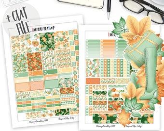 Printable Autumn Erin Condren Stickers, Fall Planner Stickers, October Stickers, Monthly Stickers, Weekly Planner Stickers, Erin Condren