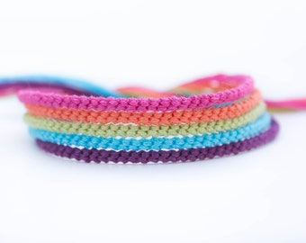 Summer Fruits Rainbow Bracelet Set - Five Handmade Bracelets