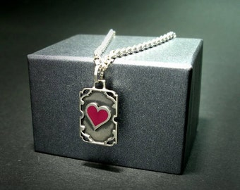 Love silver pendant