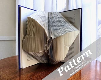 BUTTERFLY Book Folding Pattern -- 225 folds (450 numbered pages).  Includes free How-To Guide with 3 free patterns.