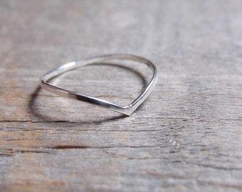 Chevron Ring Sterling Silver