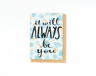 I Love You Card - Soul Mate Card - Long Distance Relationship Card - Wedding Day Card - I Love You - Engagement Card