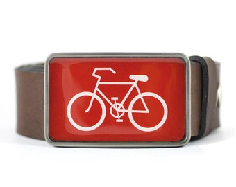 Bicycle Belt Buckle, Sport Belt Buckle, Red Belt Buckle