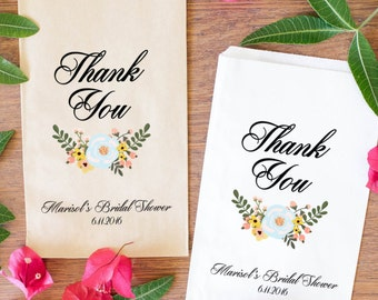 Shower Gift Bags, Wedding Shower Treat Bags, Bridal Shower Favor Bags, Candy Bags, Edible shower favors-BSE-20