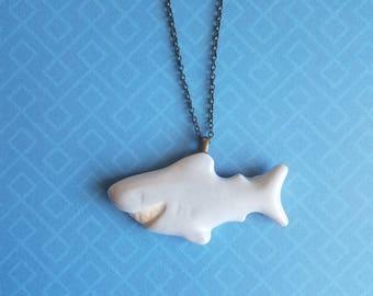 Blue/Gray Shark Necklace
