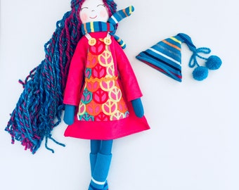New New New  '''' , Sally, soft doll, handmade  rag doll, ready to ship,stuffed doll