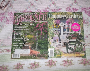Garden Magazines Group TWO Country Living Garden Magazines 2 (0324)