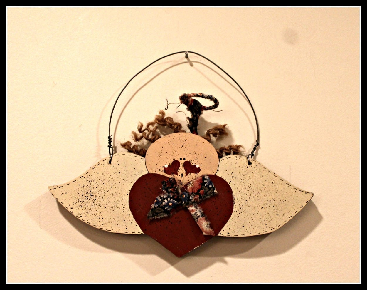 Wooden Angel Wall Hanging Primitive Angel Wall Decor Love