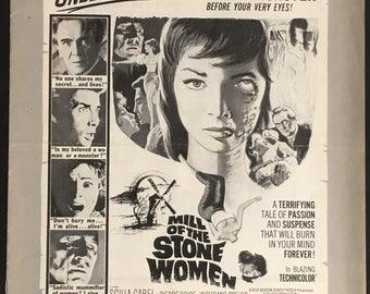 US Pressbook campaign guide Mill of the Stone women Dir. Giorgio Ferroni 1960