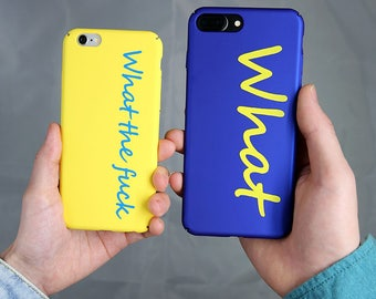 Holiday on SALE!!WhatTF Cool Letter- HS - iPhone 7 Plus Case, iPhone 7 Case, iPhone 6S Case, iPhone 6S Plus Case
