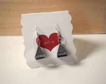 Egyptian pyramid earrings