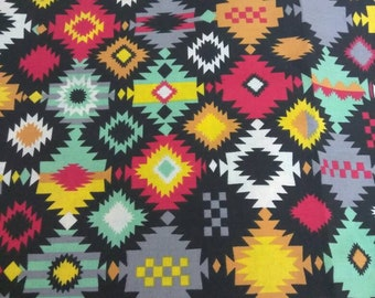 Tribal Print Navajo Fabric Per Yard Ideal For/Quilters/Clothing/Crafting / Home  Decor