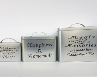 Kitchen Canister Set, Personalized Kitchen Canisters, Kitchen Storage, Great Personalized Gift, Housewarming, Mothers Day, Kitchen Decor
