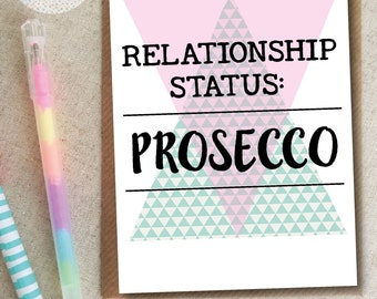 Funny Relationship Prosecco Birthday Card Friend