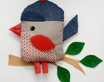 Bird Sewing Pattern PDF Instant Download Plush Stuffed Toy Tutorial. Fabric bird pattern.