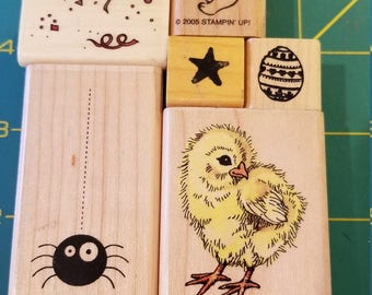 Rubber Stamp Lot of 8 Stamps