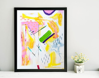 Flying Fee / Bright Abstract Painting