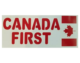 Canada First Vinyl Decal