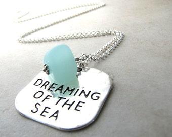 Seaglass Sea Glass Necklace Beach Ocean Sea