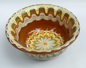 Bulgarian original, ceramic - bowl handmade,hand painted