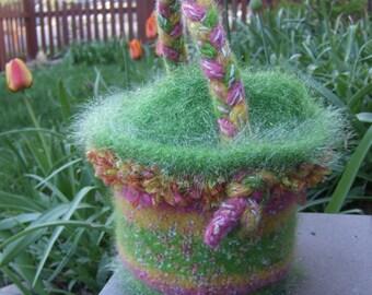 Felted, Easter Basket Knitting Pattern