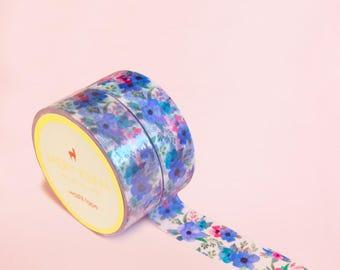 VINTAGE FLOWER WASHI Tape | Masking Tape | Korean Washi Tape | Scrapbooking | Deco Tape | Scrapbooking | Japanese Tape | Paper Tape | Diy