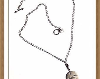 Handmade MWL copper medillion imagine necklace. 0128