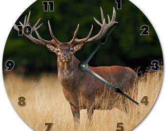 "10.5"" FOREST REINDEER Clock - Living Room Clock - Large 10.5"" Wall Clock - Home Décor Clock - 5885"