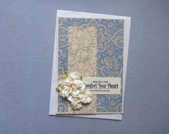 The Lord's Comfort Sympathy Card  FREE SHIPPING