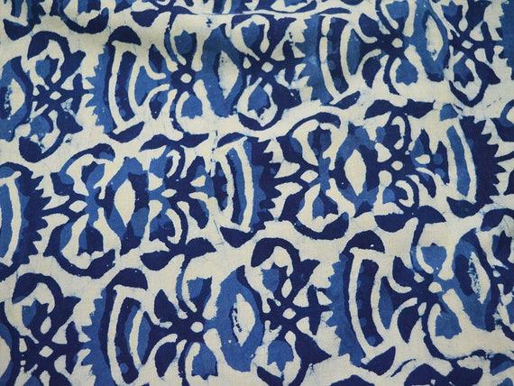indigo stoff blumendruck baumwollgewebe hand gestempelt indigo. Black Bedroom Furniture Sets. Home Design Ideas