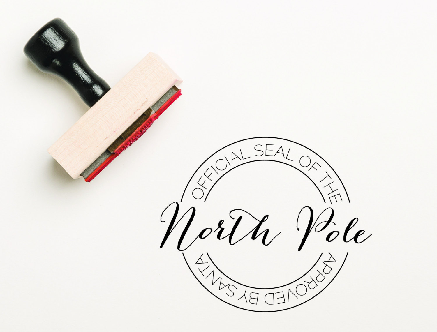 Official seal of the north pole stamp santa stamp christmas zoom spiritdancerdesigns Gallery