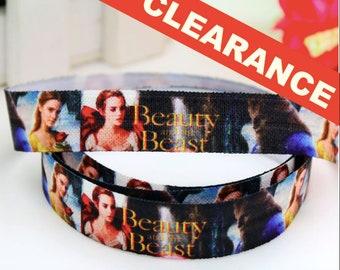 "Beauty & The Beast 5/8"" FOE Fold Over Elastic By The Yard - Headband, Bracelet, Cloth Diaper Sewing Supplies"
