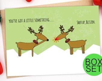 Funny Christmas Card Set, Funny Holiday Card Set, Family Christmas Card, Christmas Greeting Card Set, Boxed Christmas Cards, Xmas Card Set