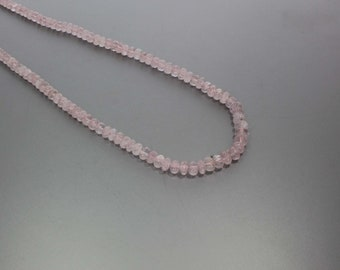 Morganite Smooth Rondelle 5 to 7 mm AA Necklace for Women
