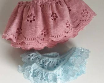 Lace trim lot / Salvaged Supplies / Sewing / Craft / Fabric / mixed media / notions / blue / pink / seamstress