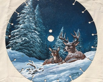Painted Saw -Silent Night - 14""