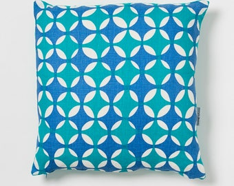 Crosses - Hand screen printed linen cushion