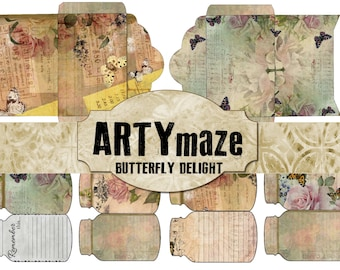 BUTTERFLY Delight Printable  Journal  ADD ons  INSTANT download