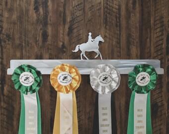 English Rider Medal Display, Equestrian Decor, Equestrian gifts, Horse Ribbon Hanger