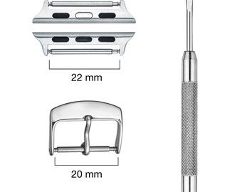 Apple watch connector kit - 38 mm - Grey