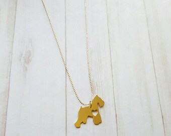 SCHNAUZER NECKLACE 24k, dog breeds, puppies, pet lovers, necklaces for women, unique jewelry, charms, necklaces, dog rescue, hush puppies
